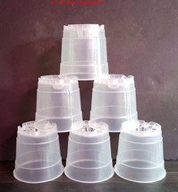 4.5'' Clear Round Plastic Orchid Pot (6 pack) Sophie's Orchids - $8.50 CAD