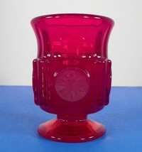 Fostoria COIN Glass Ruby Red Footed Cigarette Urn - $29.65