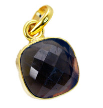 fascinating Smoky Quartz Gold Plated Brown Pendant Fashion india US - $5.93