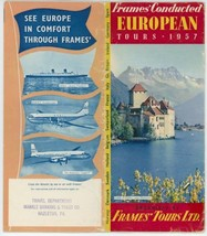 1957 Frames' European Tours Travel Brochure Guide Europe Vacation Holidays - $10.00