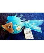 Fish Bank Dressed To Impress Aqua White Character Collectibles New With Tag - $9.85