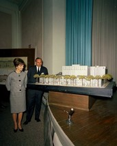 First Lady Jacqueline Kennedy views model of Lafayette Square New 8x10 P... - $8.81