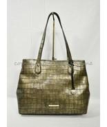 NWT Brahmin Medium Julian Embossed Leather Tote/Shoulder Bag in Bronze Templo - $279.00