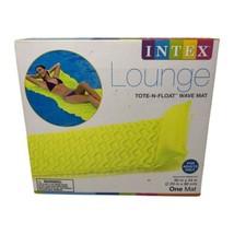 "Intex Lounge Tote N Float Wave Mat Zesty Lemon Yellow 90""x34"" Pool Float - $19.99"