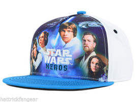 Star Wars Heroes Youth Lucas Film Character Snap back Cap Hat Kids Ages 4-10 - $14.24