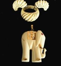 Price DROP Vintage Pre-ban Ivory , 14K gold ,ruby matched set - $290.00