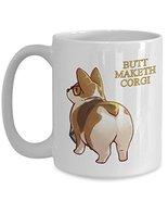 Corgi Butt Mug - Ceramic Travel White Cup - Dog Lover Gift Idea - $19.75
