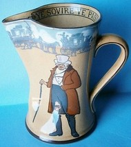 "Royal Doulton Pottery Pitcher ""Ye Squire, Ye Passenger"" - $58.50"