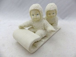Department 56 Snowbabies - Down the hill we go! tobogganing - #79600 - EUC - $15.84