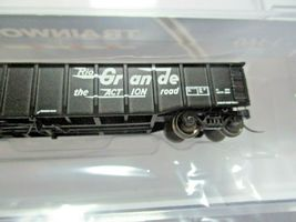 Trainworx Stock # 25201-27 to -30 Rio Grande  Black Paint Scheme 52' Gondola (N) image 3