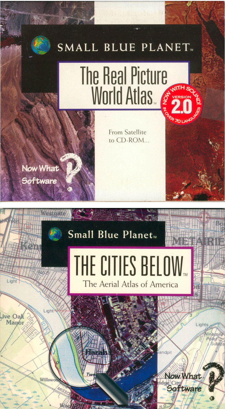 Lot 2 Small Blue Planet Real Picture World Atlas Rare Mac