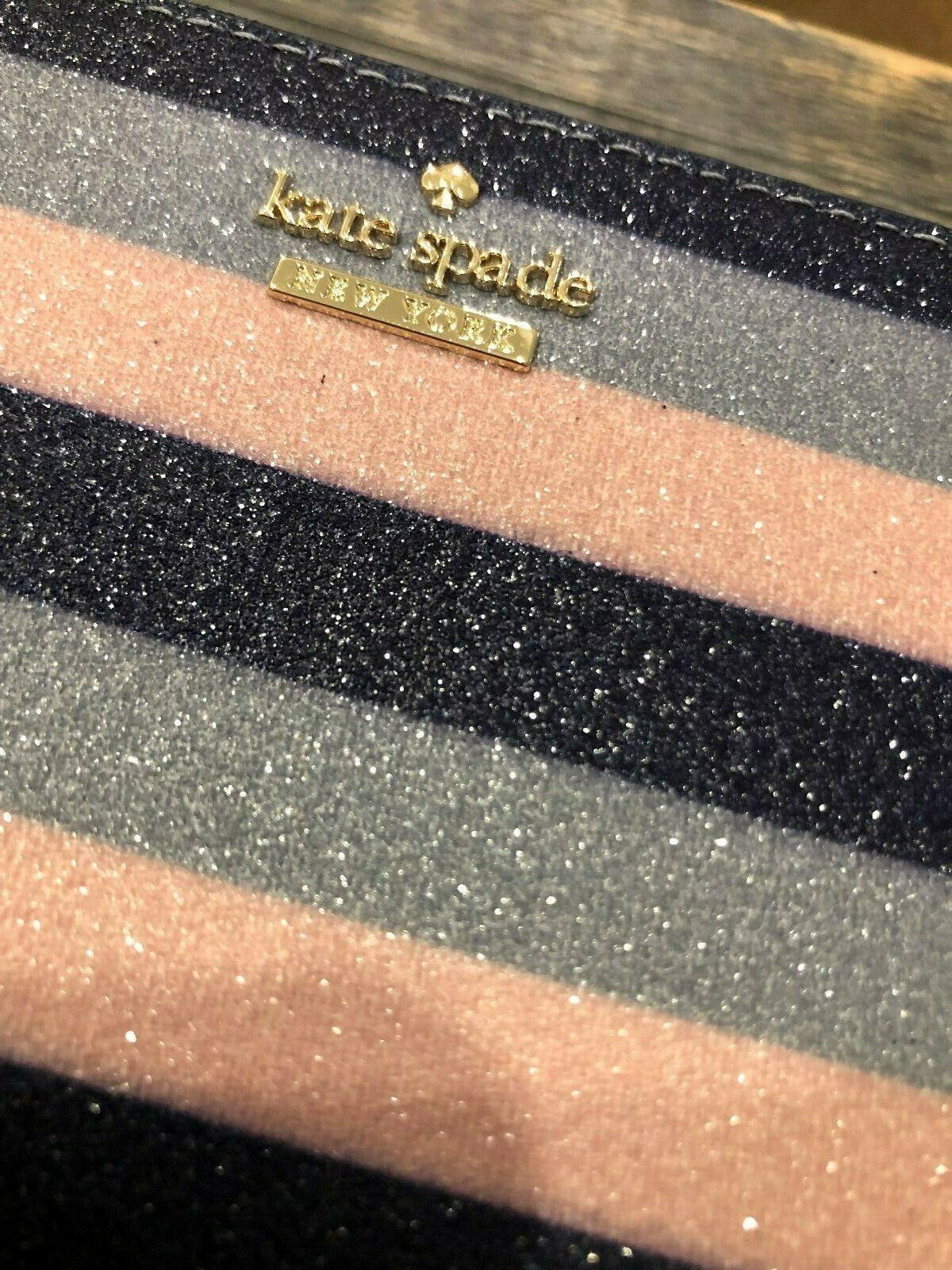 Kate Spade Owen Lane Lindsey Continental Diamond Dust Wallet Glitter Multi $158