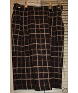 Alex Gaines  Wool Plaid Skirt & Silk  Blouse Sz... - $150.00