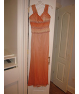 Chris Kole Orange Ombre Gown Dress Beaded  4 6 ... - $500.00