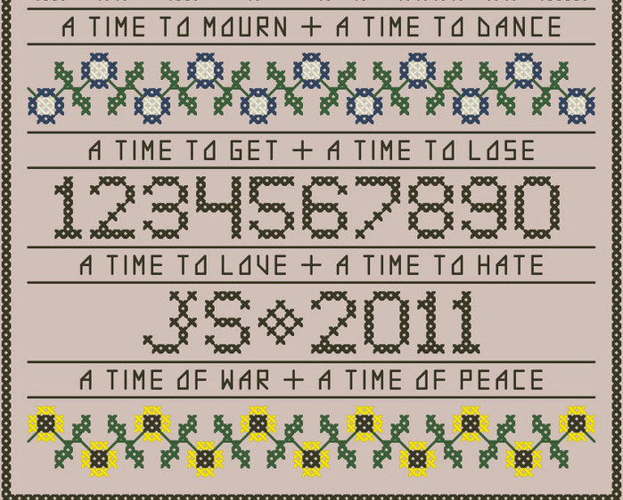 To Everything There Is A Season floral band sampler PDF cross stitch John Shirle