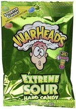 Warheads Extreme Sour Hard Candy Assorted Flavors: 12 Packs of 2 Oz - Tj - $33.27