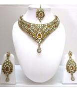 Indian Traditional Gold Tone Kundan Bridal & Wedding  Ethnic Fashion Jew... - $25.25