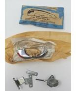Vintage Stanley Newport Cabinet Door Latch Set 4224 CM NOS Red Thumb Pat... - $5.93
