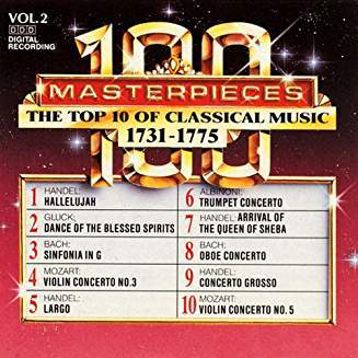 100 Masterpieces, Vol.2 - The Top 10 Of Classical Music: 1731 - 1775 Cd