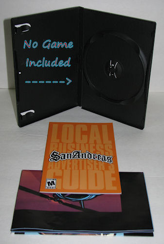 PS2 Grand Theft Auto: San Andreas Case AND Manual/Map Only, NO GAME