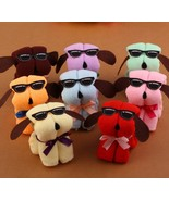 20PcsLot Microfiber Towel Plain Puppy Dog Shape Cotton Washcloth Gift K531 - $14.59