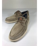 PRE Skechers Canvas Boat Shoes US Mens 9.5 Memory Foam Light Brown - $24.74