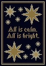All Is Calm All Is Bright PDF cross stitch chart John Shirley new designer - $89,02 MXN