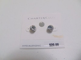 Charter Club simulated diamond stud earrings A239 - $7.67