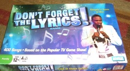 DONT FORGET THE LYRICS GAME - $24.00