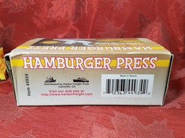 Vintage Harbor Freight Tools Metal Hamburger Press Item 44934 image 2