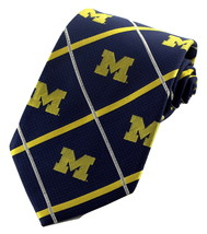 Michigan Wolverines Mens College Silk Necktie University Logo Blue Neck ... - $34.95