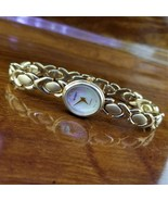Vintage Womens REGENCY 14K Gold Plated XOXO Mother of Pearl Dial Bracele... - $69.95