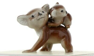 Hagen Renaker Miniature Koala Mama and Baby Ceramic Figurine