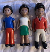 Lot of 3 Vintage Little Tikes People Characters Toys Figures African Ame... - $20.20