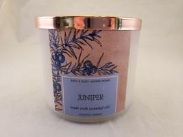 Bath and Body Works Juniper Jar Candle 3 Wicks Essential Oils 14.5oz NEW - $28.91
