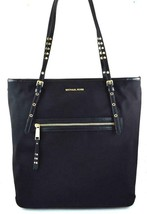 AUTHENTIC NEW NWT MICHAEL KORS LEILA BLACK LARGE TOTE - $138.00