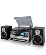 Trexonic 3-Speed Vinyl Turntable Home Stereo System with CD player, CD R... - $234.45