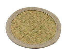 PANDA SUPERSTORE Set of 2 Pure Natural Bamboo Coasters Placemats,Natural Colour,