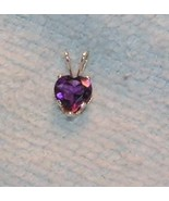 Sterling Silver Amethyst Pendant with Free Chain & Free Shipping - $25.00