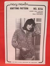 Vintage Mary Maxim Knitting Patterns Roll Collar Cardigan Sweater LADIES    - $5.99
