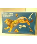 Vtg 1000 Pc LION PRIDE OF THE PLAINS Puzzle 1999 FX Schmid Lion Shape 3 ... - $33.12
