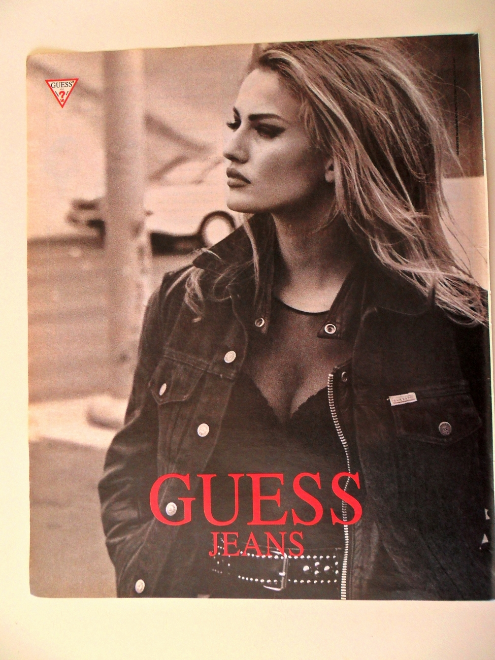 Primary image for Print Ad Guess Jeans 1991 Pretty Woman