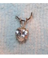 Sterling Silver White Topaz Heart Pendant with Free Chain and Free Shipping - $25.00