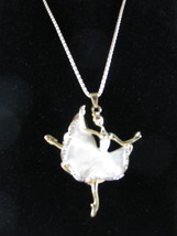 NEW Betsey Johnson Dancing Ballerina Rhinestone Pendant on Lo... - $24.50