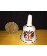 Fine Bone China Mini Bell London Coat Of Arms With Gold Trim Free Shipping - $9.99