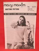 Vintage Mary Maxim Knitting Patterns DrawString OverBlouse Sweater LADIES - $3.99