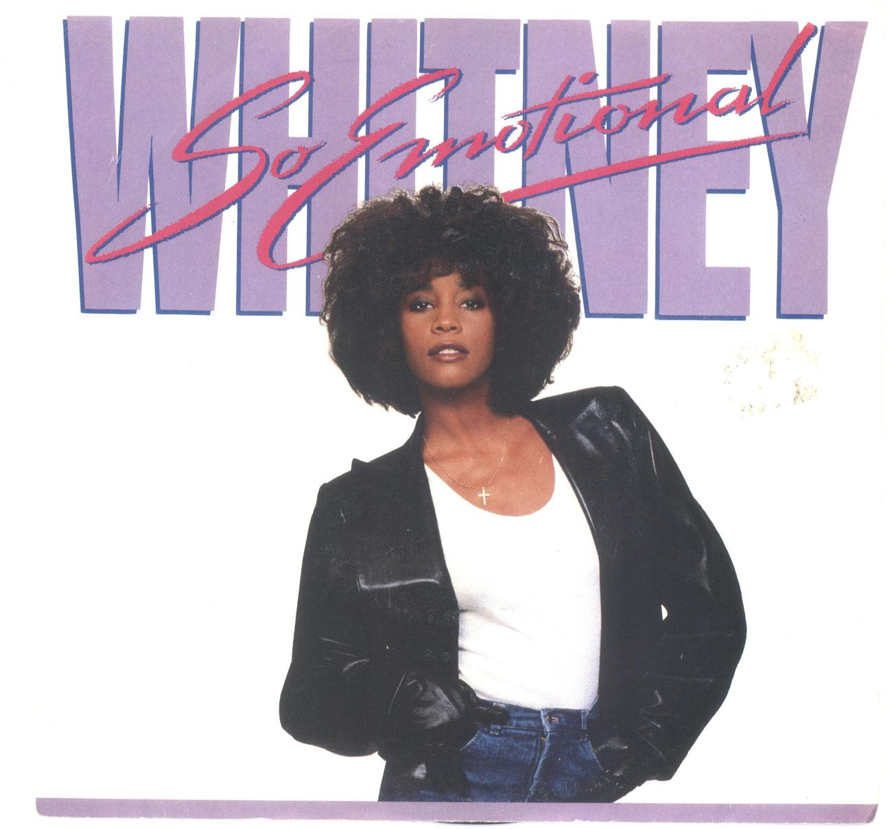 Whitney Houston 45 rpm with picture sleeve So Emotional