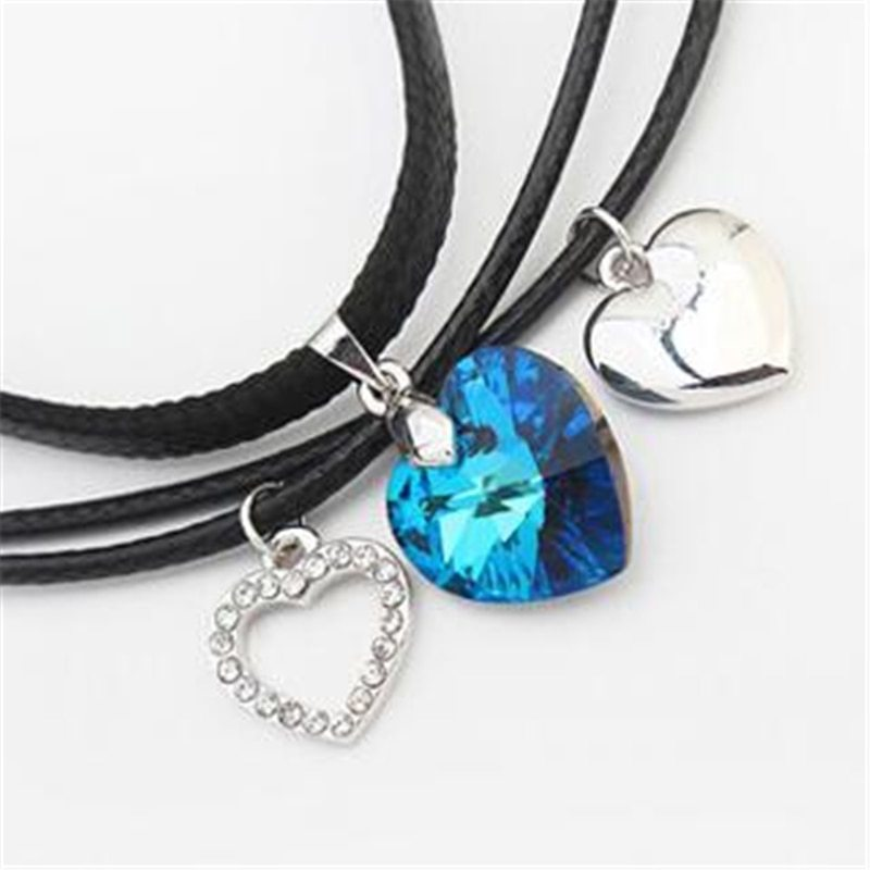 SHDEDE Fashion Jewelry Necklaces Pendants Vintage Heart Crystal from Swarovski H image 4
