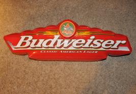 Budweiser Anheuser Busch  Inflatable Sign Red 1998 Vinyl - $10.00