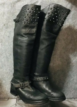 Ash Remix Black Studded Knee High Motorcycle Boots Size EU36.5/US6 - $148.50